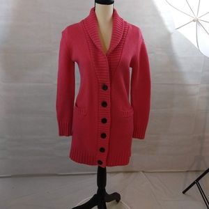 Gap Duster Sweater/Cardigan - Coral - Size XS